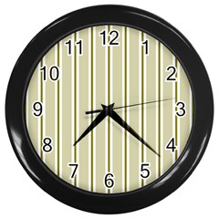 Pattern Background Green Lines Wall Clocks (Black)
