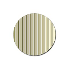 Pattern Background Green Lines Rubber Coaster (Round)