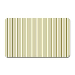 Pattern Background Green Lines Magnet (Rectangular)