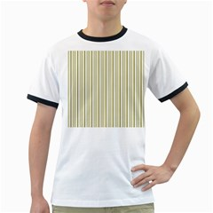 Pattern Background Green Lines Ringer T Shirts