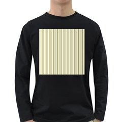 Pattern Background Green Lines Long Sleeve Dark T-Shirts