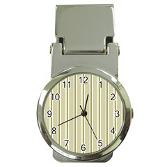 Pattern Background Green Lines Money Clip Watches