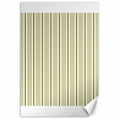 Pattern Background Green Lines Canvas 12  x 18