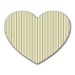 Pattern Background Green Lines Heart Mousepads
