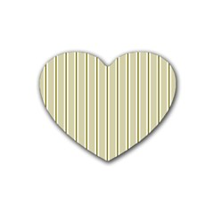 Pattern Background Green Lines Heart Coaster (4 pack)