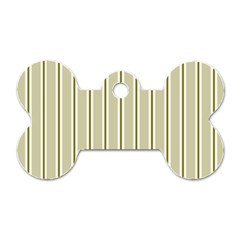 Pattern Background Green Lines Dog Tag Bone (two Sides)