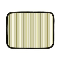 Pattern Background Green Lines Netbook Case (Small)