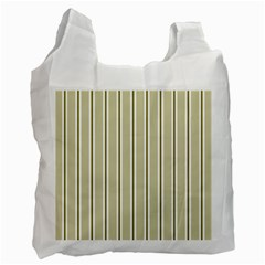 Pattern Background Green Lines Recycle Bag (one Side)