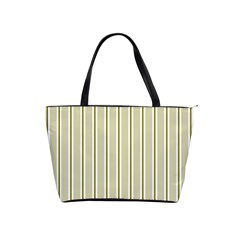 Pattern Background Green Lines Shoulder Handbags