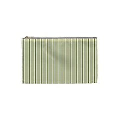 Pattern Background Green Lines Cosmetic Bag (small)