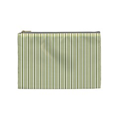 Pattern Background Green Lines Cosmetic Bag (medium)