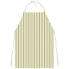 Pattern Background Green Lines Full Print Aprons