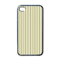 Pattern Background Green Lines Apple iPhone 4 Case (Black)