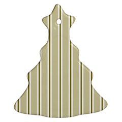Pattern Background Green Lines Christmas Tree Ornament (Two Sides)