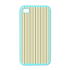 Pattern Background Green Lines Apple Iphone 4 Case (color)