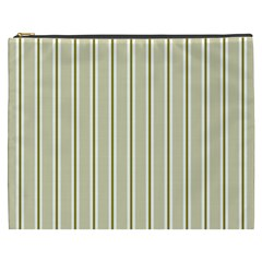 Pattern Background Green Lines Cosmetic Bag (xxxl)
