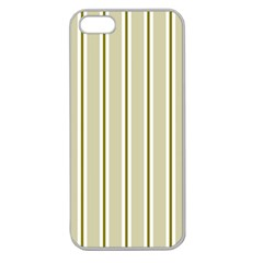 Pattern Background Green Lines Apple Seamless iPhone 5 Case (Clear)