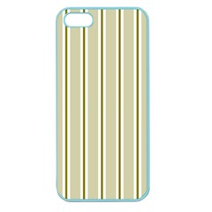 Pattern Background Green Lines Apple Seamless Iphone 5 Case (color)