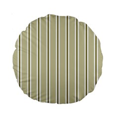 Pattern Background Green Lines Standard 15  Premium Round Cushions