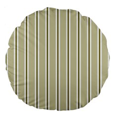 Pattern Background Green Lines Large 18  Premium Round Cushions