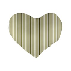 Pattern Background Green Lines Standard 16  Premium Heart Shape Cushions