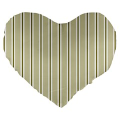 Pattern Background Green Lines Large 19  Premium Heart Shape Cushions