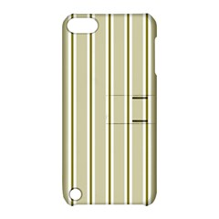 Pattern Background Green Lines Apple iPod Touch 5 Hardshell Case with Stand