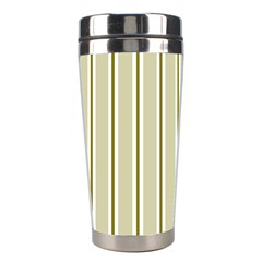 Pattern Background Green Lines Stainless Steel Travel Tumblers