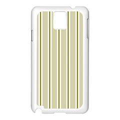 Pattern Background Green Lines Samsung Galaxy Note 3 N9005 Case (white)