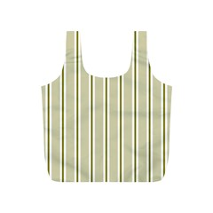 Pattern Background Green Lines Full Print Recycle Bags (s)