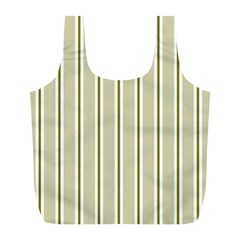 Pattern Background Green Lines Full Print Recycle Bags (L)