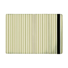 Pattern Background Green Lines Ipad Mini 2 Flip Cases