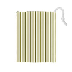 Pattern Background Green Lines Drawstring Pouches (large)