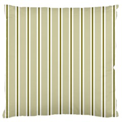 Pattern Background Green Lines Large Flano Cushion Case (one Side)