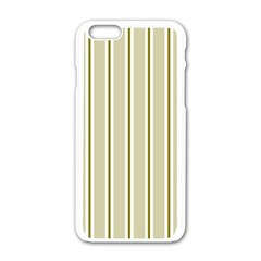 Pattern Background Green Lines Apple Iphone 6/6s White Enamel Case