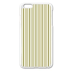 Pattern Background Green Lines Apple Iphone 6 Plus/6s Plus Enamel White Case