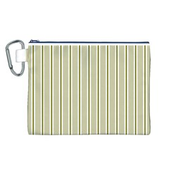 Pattern Background Green Lines Canvas Cosmetic Bag (l)