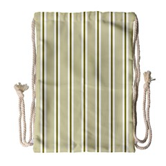 Pattern Background Green Lines Drawstring Bag (Large)