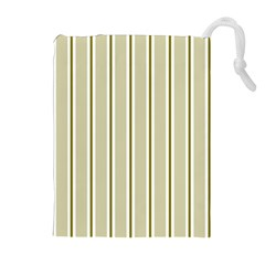 Pattern Background Green Lines Drawstring Pouches (Extra Large)