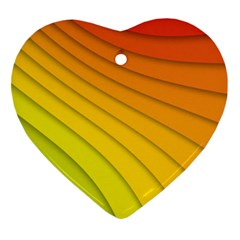Abstract Pattern Lines Wave Ornament (heart)