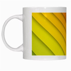 Abstract Pattern Lines Wave White Mugs