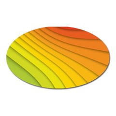 Abstract Pattern Lines Wave Oval Magnet