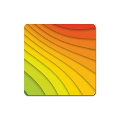 Abstract Pattern Lines Wave Square Magnet
