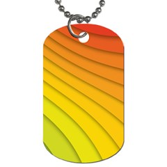 Abstract Pattern Lines Wave Dog Tag (one Side)