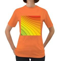 Abstract Pattern Lines Wave Women s Dark T Shirt
