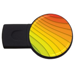 Abstract Pattern Lines Wave Usb Flash Drive Round (4 Gb)