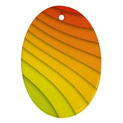 Abstract Pattern Lines Wave Oval Ornament (two Sides)
