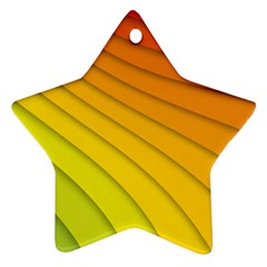 Abstract Pattern Lines Wave Star Ornament (Two Sides)