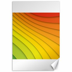 Abstract Pattern Lines Wave Canvas 12  X 18