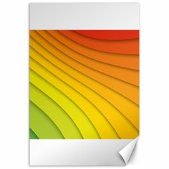 Abstract Pattern Lines Wave Canvas 20  x 30